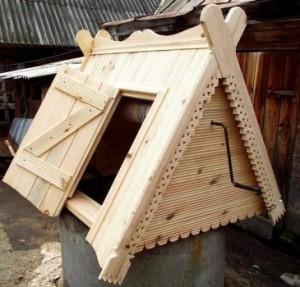 Строительство домиков на колодцы фото
