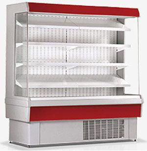 Фото холодильной открытой витрины