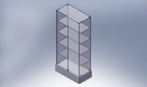 Продажа стеклянных витрин фото