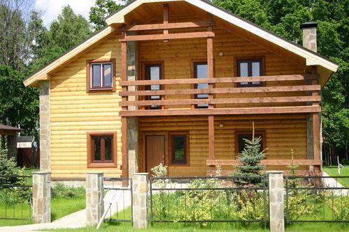 Фото красивый деревянный дом с отделкой
