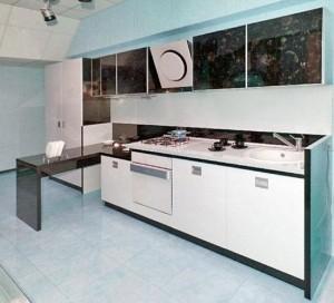 Мебель на кухне стиля хай-тек