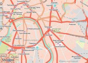 Фото схема Таганского района Москвы по Яндексу