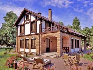 Фото загородного дома из пенобетона